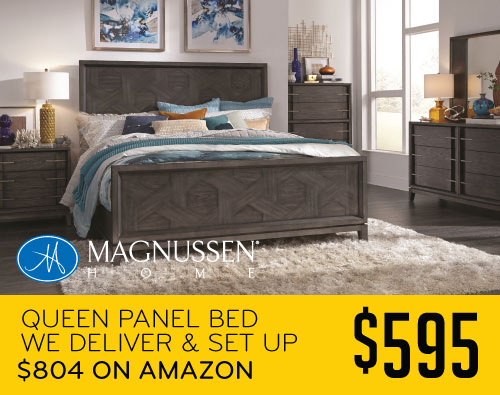 Queen Panel Bed $595 We Deliver and Set Up $804 on Amazon