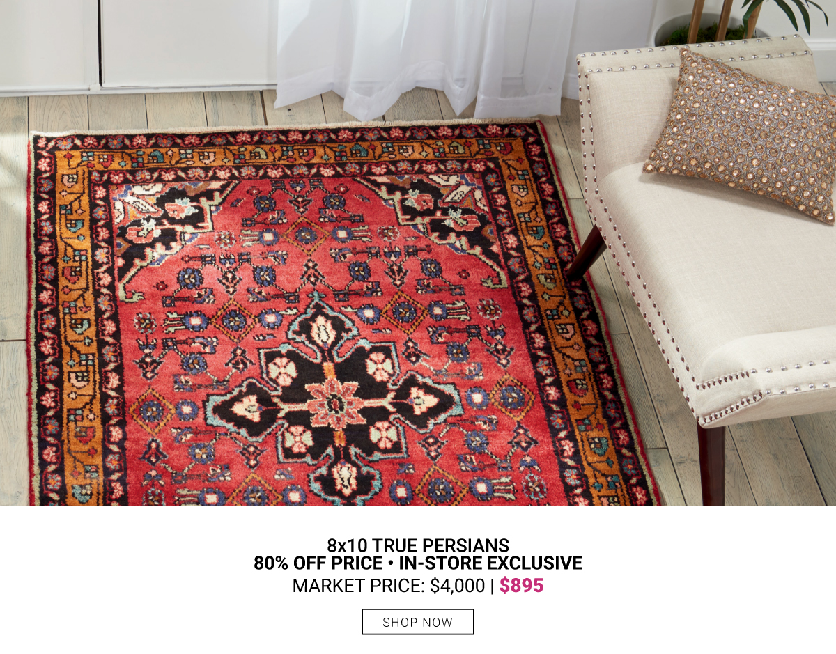 In-Store Exclusive 8x10 Persian Rugs $895