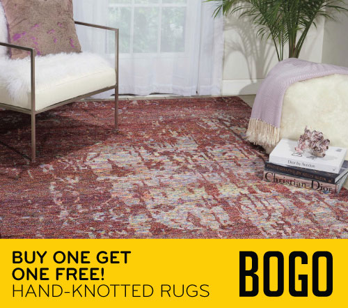 Buy One Get One Free! Hand-Knotted Rugs BOGO