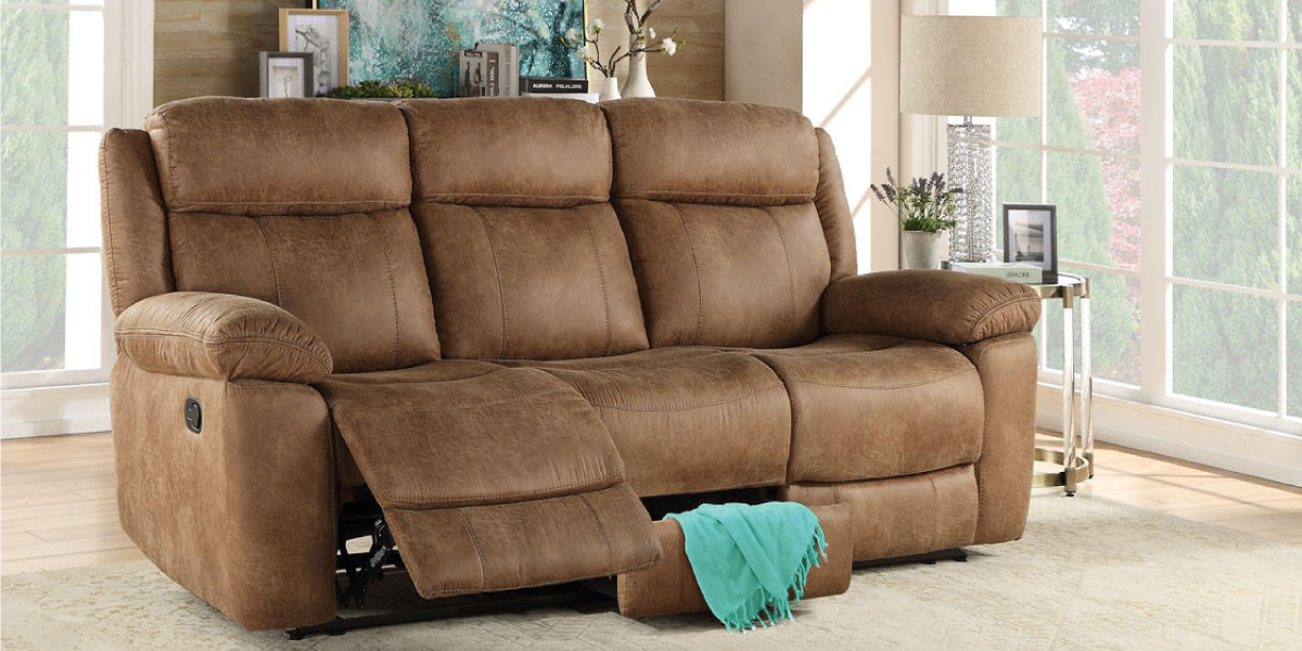 Reclining Sofa with Storage and USB $399