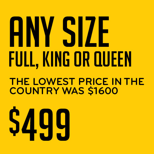 Any Size Full, King or Queen the Lowest Price in the Country $499 Serta iComfort