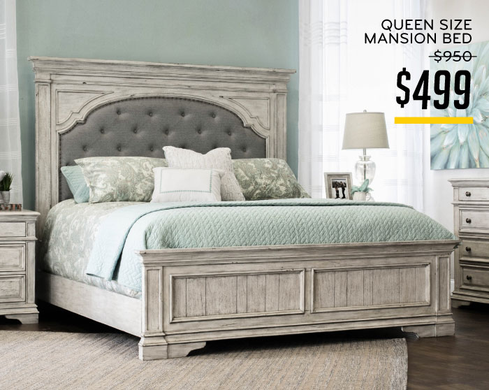 Queen Size Mansion Bed $499
