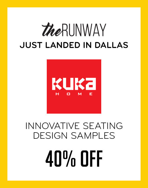 the Runway Just Arrived in Dallas Kuka Home Innovative Seating Design Samples 40% Off