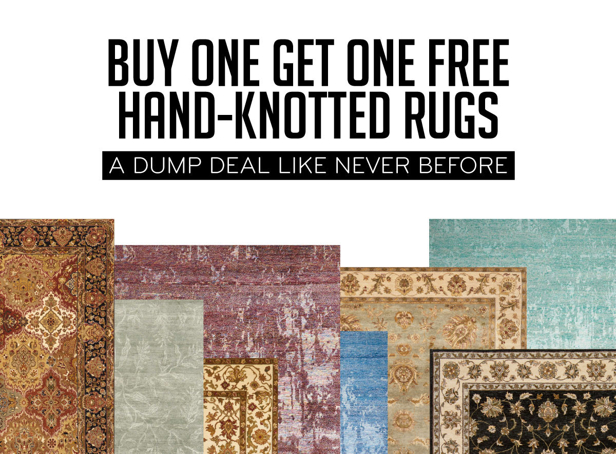Buy One Get One Free Hand-Knotted Rugs