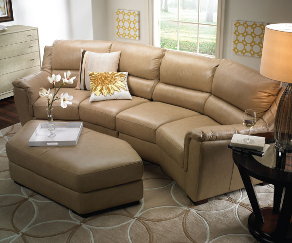 Futura Leather Beige Sectional