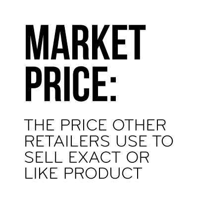 Market Price: The Price Other Retailers Use To Sell Exact Or Like Product