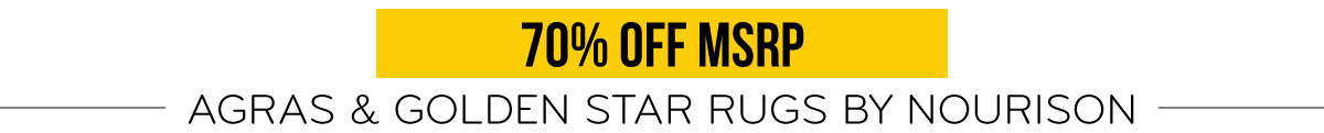 70% Off MSRP Agras & Golden Star Rugs by Nourison