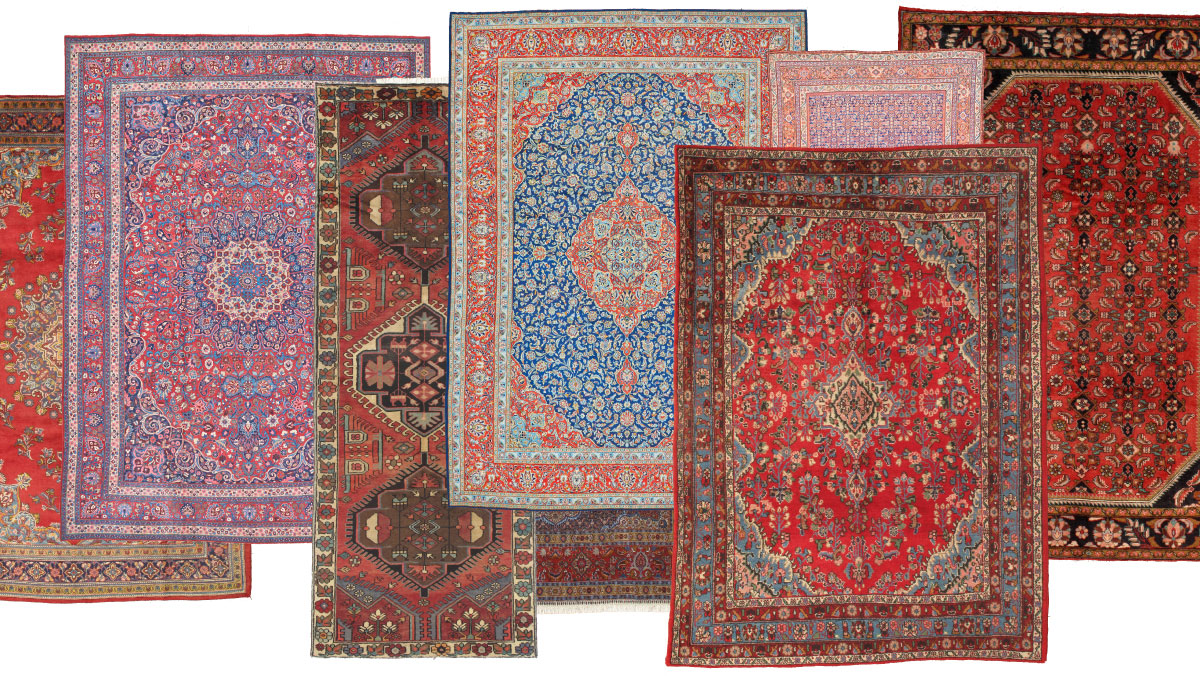 Persian Rugs in Artistic Designs and Vibrant Colors