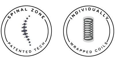 spinal zone patented tech and individually wrapped coils