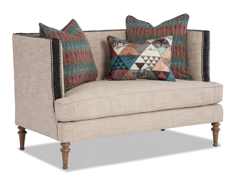 Rachlin Classics Linen Sofa and Pillows