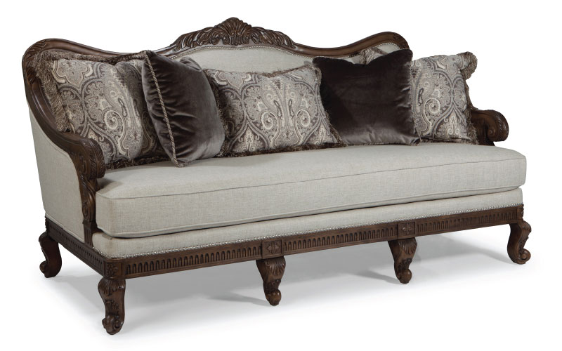 Rachlin Classics Sofa with Accent Pillows